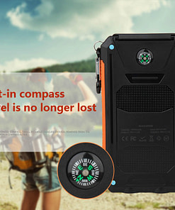 Waterproof Solar Charger 2Go (20000 mAh) Consumer Electronics Limited Time Deals color: Black|Blue|White|Green|Orange