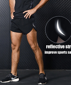 https://refuseyoulose.com Reflective Night Running Shorts Pants & Shorts For Men 👖🩳 color: Pure Black Refuse You Lose https://refuseyoulose.com/shop/mens-sports-running-shorts-training-exercise-jogging-short-pants-marathon-shorts-man-short-sport-short-s-xxxl-plus-size/