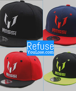 https://refuseyoulose.com Messi Hip-Hop Hat Best Gifts of 2020 For Men 💪 Hats 🧢 Sports & Jerseys ⚾️🏀🏈⚽️🏒 Soccer Products ⚽️ color: Black|Yellow|Navy Blue|Red Refuse You Lose https://refuseyoulose.com/shop/messi-hip-hop-baseball-cap/