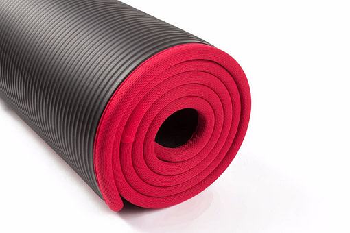 Thick Yoga Mat with Locked Edge Workout Equipment Gym and Fitness Fitness Equipment color: Black