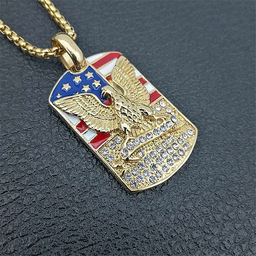 https://refuseyoulose.com Dog Tag of Eagle with American Flag (includes chain) Jewelry 💎 Fine or Fashion: Fashion Refuse You Lose https://refuseyoulose.com/shop/military-dog-tag-of-eagle-with-american-flag-includes-chain/