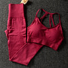 Women's Solid Color Sports Bra and Leggings Set Workout At Home Workout at Home For Women Best Gifts of 2020 Best Gifts For Women in 2020 For Women Gifts For Women Sportswear for Women Leggings and Pants For Women color: Black|Red|Army Green|BROWN|Purple