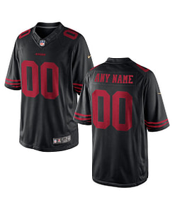 San Francisco 49ers NFL Football Jersey For Men, Women, or Youth (Any Name and Number) Gifts For Men Sports Jerseys For Men Sports Jerseys For Women Jerseys For Kids Sports & Jerseys Football Jerseys color: Black|White|Red