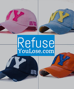 https://refuseyoulose.com Adjustable Unisex Casual Cotton NY Cap Best Gifts of 2020 For Men 💪 Hats 🧢 Sports & Jerseys ⚾️🏀🏈⚽️🏒 Baseball Products ⚾️ color: Beige|Black|Blue|Pink|Orange|Sky Blue Refuse You Lose https://refuseyoulose.com/shop/casual-unisex-cotton-baseball-cap/
