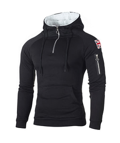 Men's Sport Styled Zipper Hoodie Workout At Home Workout at Home For Men 2020 New Deals Best Gifts of 2020 Best Gifts For Men in 2020 For Men Gifts For Men Coats For Men Sportswear For Men color: EM142 Black|EM142 Blue|EM142 Lightgrey|EM142 Red|EM142 Yellow|WD02 Black|WD02 Darkgrey|WD02 Lightgrey|WD02 Red