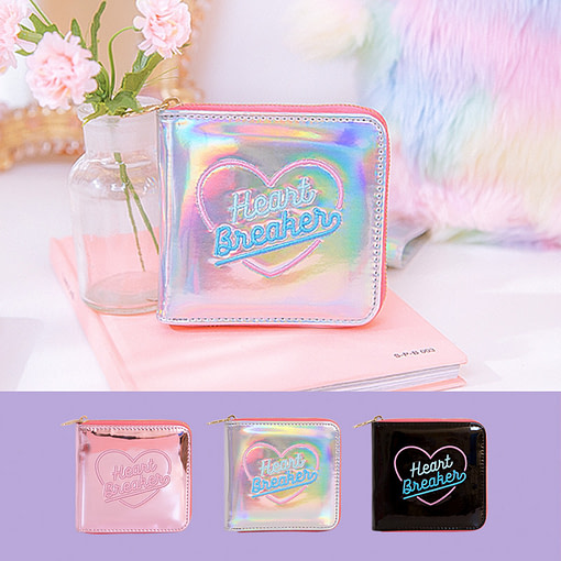 Heart Embroidery Holographic Short Wallet Limited Time Deals ⏳ 2020 New Deals 🎉 Best Gifts of 2020 🎁 Best Gifts of 2020 For Girls 👸🏻 Best Gifts of 2020 For Women 🌹 Deals For Women 👗 Accessories For Women color: Black Pink Silver Refuse You Lose https://refuseyoulose.com
