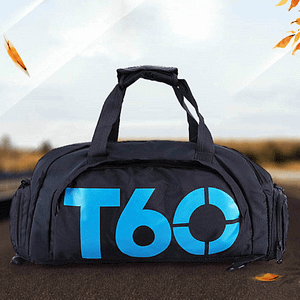 Gym Bag with Shoes Compartment Refuse You Lose color: Blue|White|Yellow|Bluewhite|Redwhite