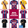 Customizable Barcelona Soccer Jersey For Men, Women, or Youth color: 2020-2021 Home|2020-2021 Road|2019-2020 Home|2019-2020 Road|2019-2020 Third|2018-2019 Home|2018-2019 Road|2018-2019 Third|120th Anniversary  Refuse You Lose