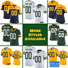 Green Bay Packers Jersey For Men, Women, or Youth | Customizable color: Black V-Neck|Alternate|Gold|City Edition|Pro Bowl|Salute to Service|Home|Road  Refuse You Lose