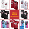 Miami Heat Basketball Jersey For Men, Women, or Youth   Customizable color: Alternate Red City Edition Home Road  Refuse You Lose