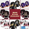 Arizona Coyotes Hockey Jersey For Men, Women, or Youth   Customizable color: Black Golden Reverse Retro Alternate Home Road  Refuse You Lose