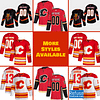 Calgary Flames Hockey Jersey For Men, Women, or Youth   Customizable brand: Refuse You Lose  Refuse You Lose