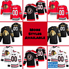 Chicago Blackhawks Jersey For Men, Women, or Youth   Customizable color: Black Golden Reverse Retro Home Road  Refuse You Lose