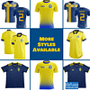 Sweden Soccer Jersey For Men, Women, or Youth   Customizable color: 2020-2021 Home 2020-2021 Home Concept 2020-2021 Flag Concept 2020-2021 Road 2020-2021 Third Concept 2019-2020 Home 2018-2019 Home 2018-2019 Road  Refuse You Lose