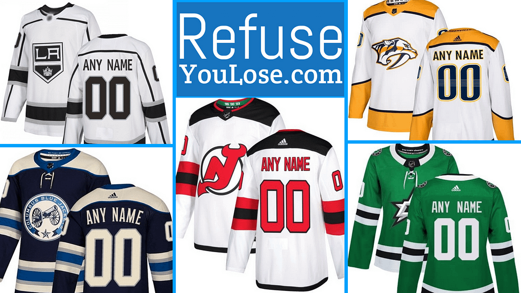 Official Hockey Jerseys at RefuseYouLose.com