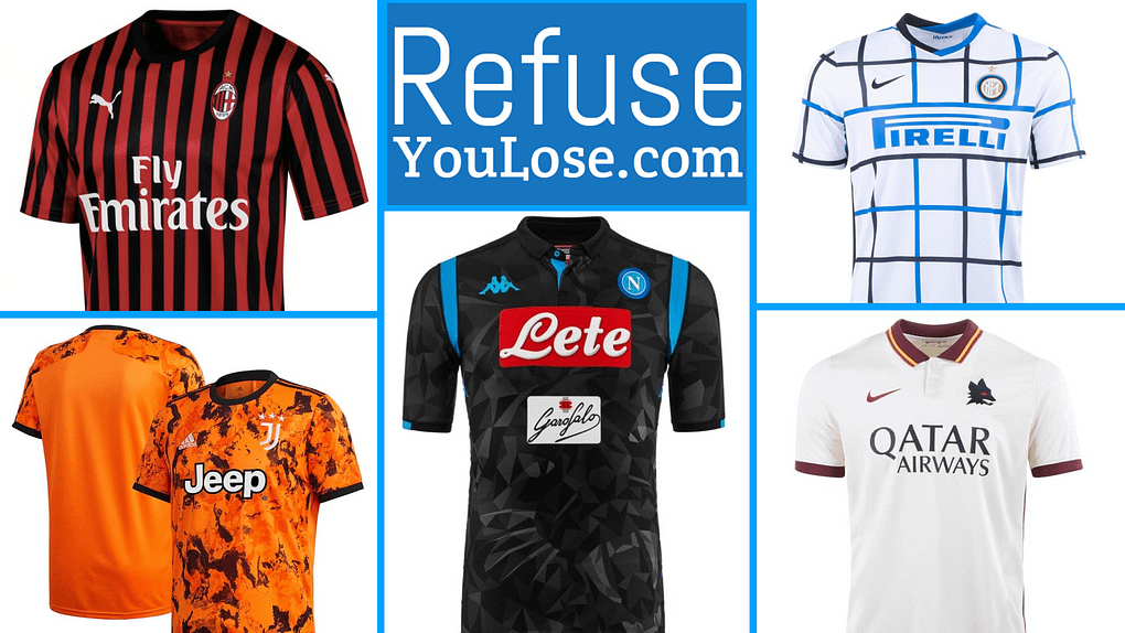 Serie A Jerseys at RefuseYouLose.com