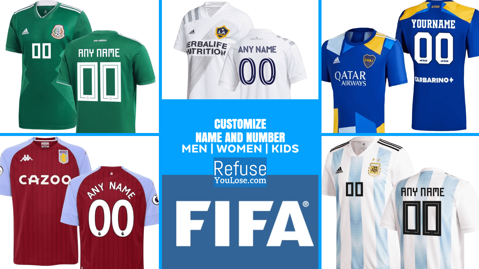 Official Soccer Jerseys at RefuseYouLose.com