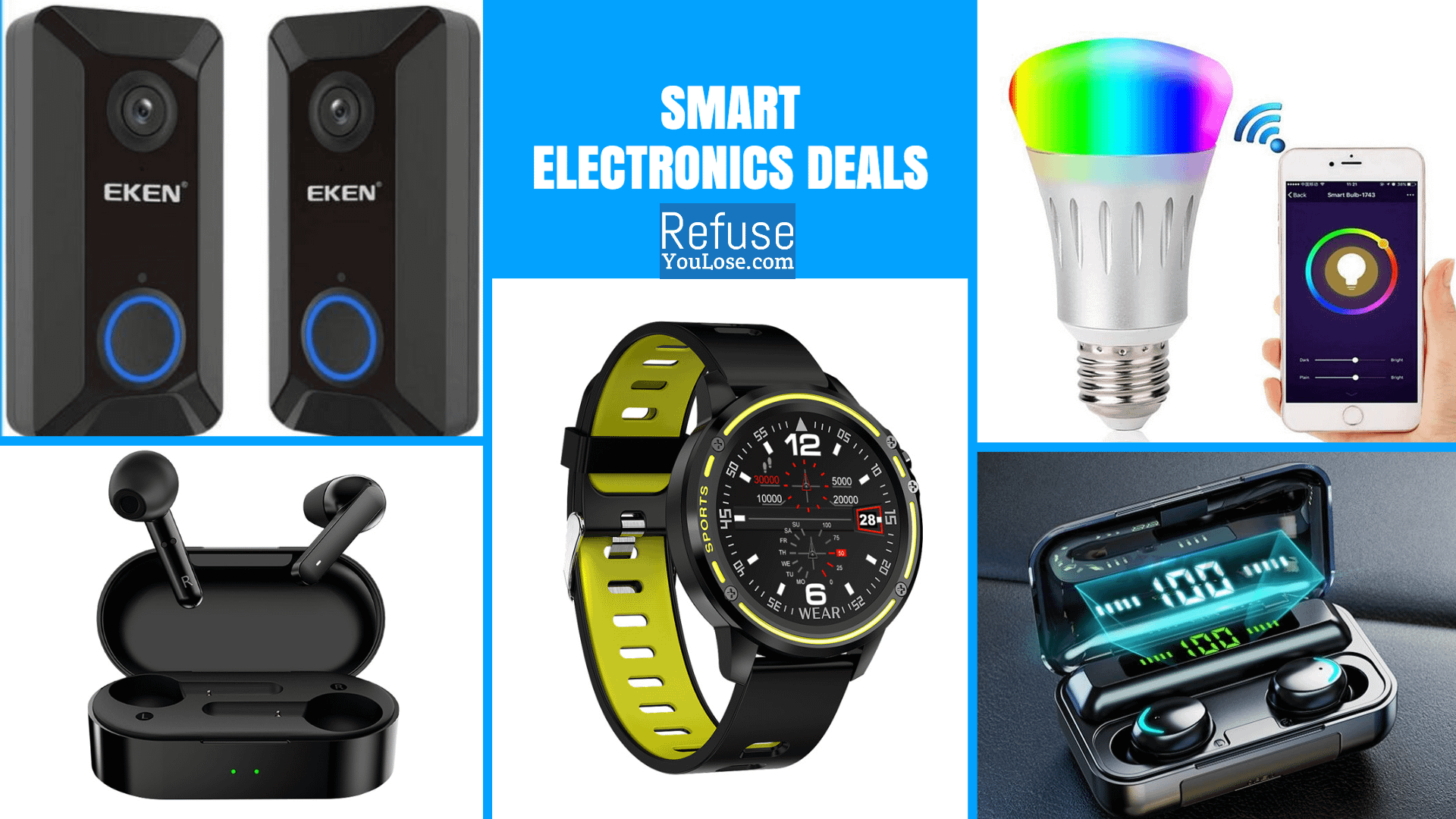 Smart Electronics Deals at RefuseYouLose.com