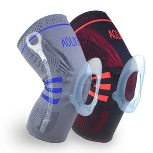Basketball Knee Protective Sleeve Refuse You Lose color: Black Blue|Grey Blue|Red Black|Grey|Red