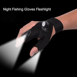 1pc Flashlight Gloves for Fishing At Night Hunting Fishing Gloves men women dual LED AS SEEN ON TV GLOVELITE color: Black  Refuse You Lose