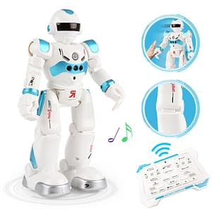 New RC Robot Remote Control Robot toy Dancing Gesture Action Figures Toys for children boys color: Blue|Gray  Refuse You Lose