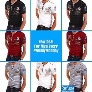 Manly Short Sleeve Casual T-Shirt brand: Refuse You Lose  Refuse You Lose