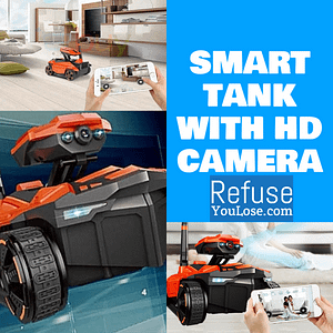 Smart Tank with HD Camera Features: Remote Control  Refuse You Lose