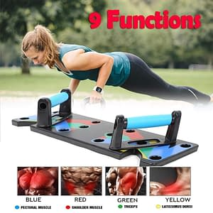 Multifunctional 9 in 1 Push Up Stand Refuse You Lose color: Black Deep Blue White