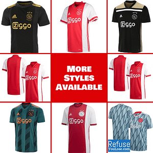 AFC Ajax Soccer Jersey For Men, Women, or Youth   Custom color: 2020-2021 Home 2020-2021 Road 2020-2021 Third 2019-2020 Home 2019-2020 Road 2018-2019 Home 2018-2019 Road  Refuse You Lose