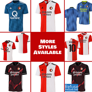 Feyenoord Soccer Jersey for Men, Women, or Youth   Custom color: 2020-2021 Home 2020-2021 Road 2019-2020 Home 2019-2020 Road 2018-2019 Home 2018-2019 Road  Refuse You Lose