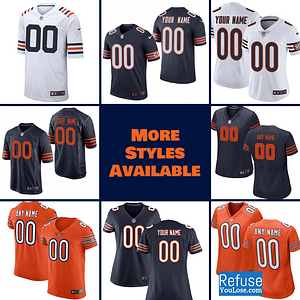 Chicago Bears Football Jersey For Men, Women, or Youth | Customizable brand: Refuse You Lose  Refuse You Lose