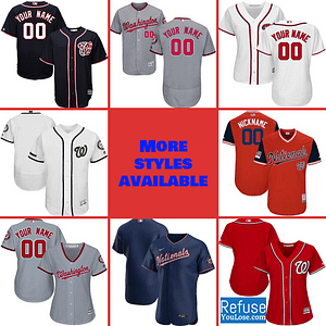 Washington Nationals Jersey For Men, Women, or Youth   Customizable brand: Refuse You Lose  Refuse You Lose