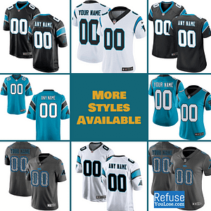 Carolina Panthers Jersey For Men, Women, or Youth | Customizable brand: Refuse You Lose  Refuse You Lose