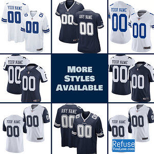 Dallas Cowboys Jersey For Men, Women, or Youth | Customizable brand: Refuse You Lose  Refuse You Lose