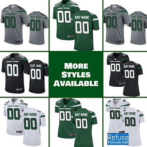 New York Jets Jersey For Men, Women, or Youth | Customizable brand: Refuse You Lose  Refuse You Lose