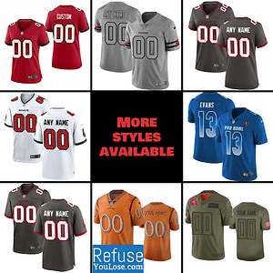 Tampa Bay Buccaneers Jersey For Men, Women, or Youth | Customizable brand: Refuse You Lose  Refuse You Lose