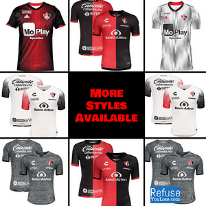 Atlas FC Soccer Jersey For Men, Women, or Youth | Customizable color: 2020-2021 Home|2020-2021 Road|2020-2021 Third|2019-2020 Home|2019-2020 Road  Refuse You Lose