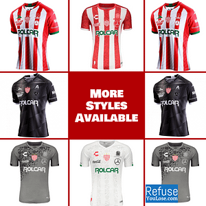Club Necaxa Soccer Jersey for Men, Women, or Youth | Customizable color: 2020-2021 Home|2020-2021 Road|2019-2020 Home|2019-2020 Road|2019-2020 Third  Refuse You Lose