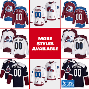 Colorado Avalanche Jersey For Men, Women, or Youth | Customizable color: Black Golden|Reverse Retro|Alternate|Home|Road  Refuse You Lose