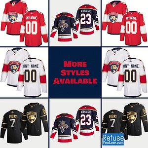 Florida Panthers Hockey Jersey For Men, Women, or Youth | Customizable color: Black Golden|Reverse Retro|Home|Road  Refuse You Lose