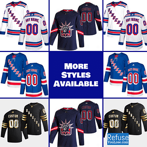 New York Rangers Jersey For Men, Women, or Youth | Customizable color: Black Golden|Reverse Retro|Home|Road  Refuse You Lose