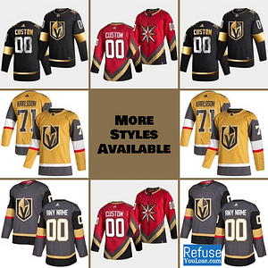 Vegas Golden Knights Jersey For Men, Women, or Youth | Customizable color: Black Golden|Reverse Retro|Alternate|Home|Road  Refuse You Lose