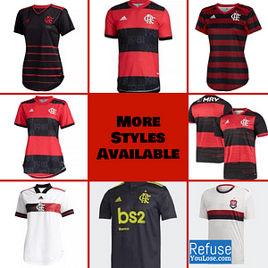 Flamengo Soccer Jersey for Men, Women, or Youth | Customizable color: 2021-2022 Home|2020-2021 Home|2020-2021 Road|2020-2021 Third|2019-2020 Home|2019-2020 Road|2019-2020 Third  Refuse You Lose
