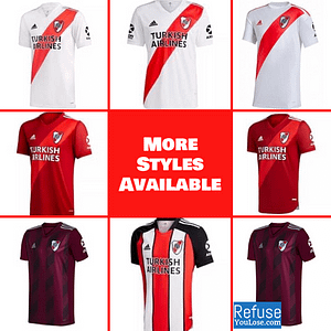 River Plate Soccer Jersey for Men, Women, or Youth   Customizable color: 70 Year Anniversary 2021-2022 Home 2021-2022 Road 2021-2022 Third 2020-2021 Home 2020-2021 Road 2019-2020 Home 2019-2020 Road  Refuse You Lose