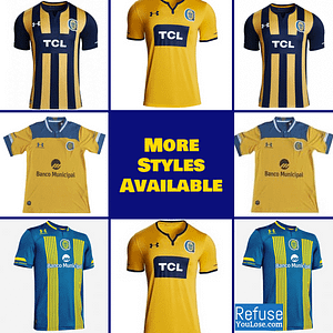 Rosario Central Soccer Jersey for Men, Women, or Youth | Customizable color: 2020-2021 Home|2020-2021 Road|2019-2020 Home|2019-2020 Road  Refuse You Lose