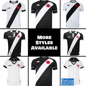 Vasco da Gama Jersey for Men, Women, or Youth | Customizable color: 2020-2021 Home|2020-2021 Road|2019-2020 Home|2019-2020 Road|2019-2020 Third  Refuse You Lose