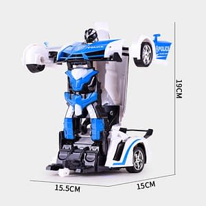 Remote Control Car Transformation Robot (Multiple Colors) color: Captain|Polic car|Red Chariot|Blue|Red|Yellow|Orange  Refuse You Lose