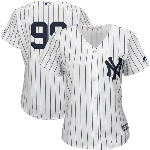 Aaron Judge Yankees Jersey For Men, Women, or Youth color: 2018 Nickname|2019 Navy|2019 Nickname|2020 Home|2020 Navy|2020 Road|Black V-Neck|2019 Home|2019 Road|Salute to Service  Refuse You Lose