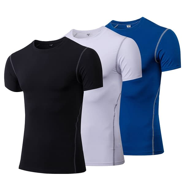 Comfortable Quick Drying Compressive Sports Men's T-Shirt Refuse You Lose color: Black|Blue|Gray|White|Green|Purple|Red