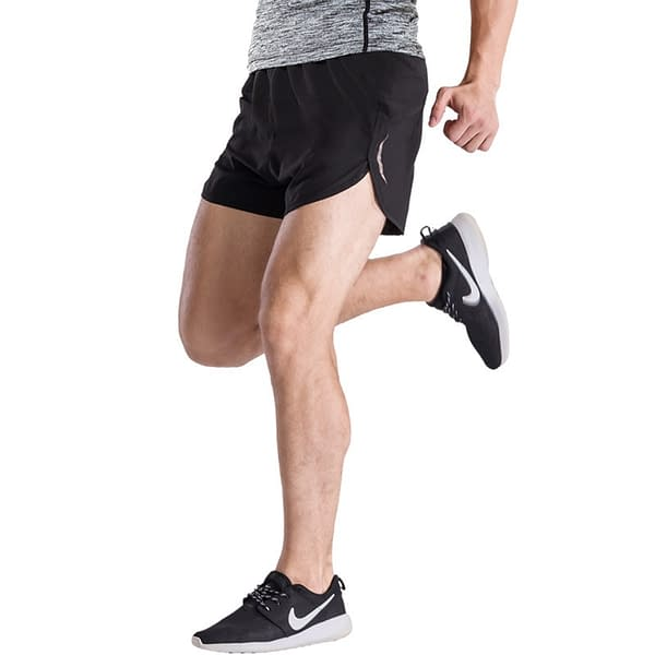 Reflective Night Running Shorts Refuse You Lose color: Pure Black